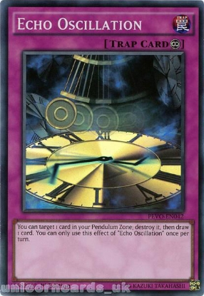 Picture of PEVO-EN042 Echo Oscillation Super Rare 1st Edition Mint YuGiOh Card