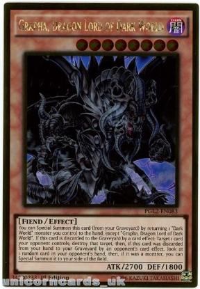 Picture of PGL2-EN083 Grapha, Dragon Lord of Dark World Gold Rare 1st Ed Mint YuGiOh Card