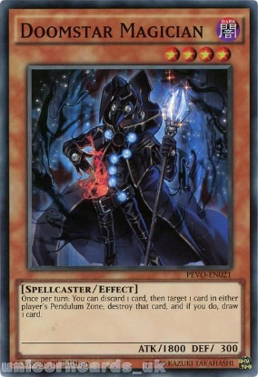 Picture of PEVO-EN021 Doomstar Magician Super Rare 1st Edition Mint YuGiOh Card