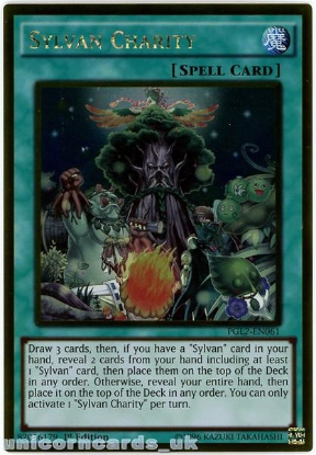 Picture of PGL2-EN061 Sylvan Charity Gold Rare 1st Edition Mint YuGiOh Card