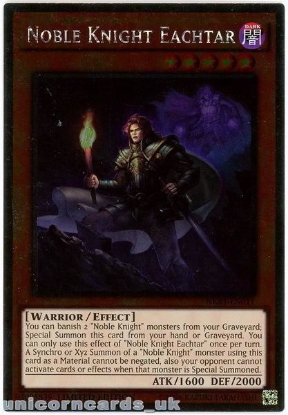 Picture of NKRT-EN011 Noble Knight Eachtar Platinum Rare Limted Edition Mint YuGiOh Card
