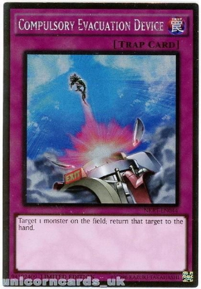 Picture of NKRT-EN044 Compulsory Evacuation Device Platinum Rare Mint YuGiOh Card