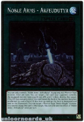 Picture of NKRT-EN020 Noble Arms - Arfeudutyr Platinum Rare Limted Edition Mint YuGiOh Card