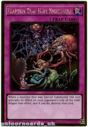 Picture of PGL2-EN069 Traptrix Trap Hole Nightmare Gold Rare 1st Edition Mint YuGiOh Card