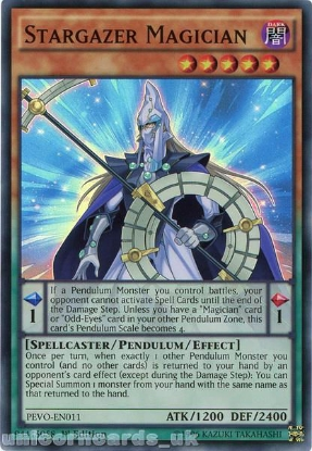 Picture of PEVO-EN011 Stargazer Magician Super Rare 1st Edition Mint YuGiOh Card