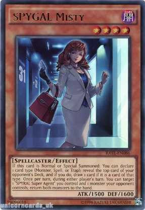 Picture of RATE-EN086 SPYGAL Misty Ultra Rare UNL Edition Mint YuGiOh Card