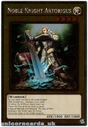 Picture of NKRT-EN003 Noble Knight Artorigus Platinum Rare Limted Edition Mint YuGiOh Card