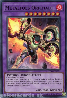 Picture of PEVO-EN054 Metalfoes Orichalc Super Rare 1st Edition Mint YuGiOh Card