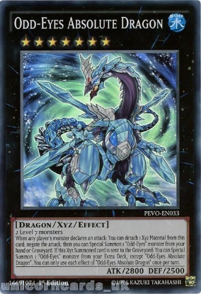 Picture of PEVO-EN033 Odd-Eyes Absolute Dragon Super Rare 1st Edition Mint YuGiOh Card