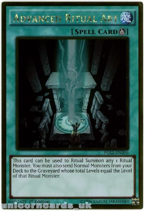 Picture of PGL2-EN050 Advanced Ritual Art Gold Rare 1st Edition Mint YuGiOh Card