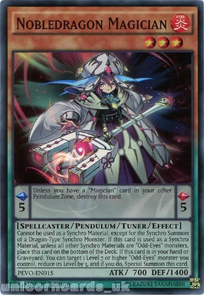 Picture of PEVO-EN015 Nobledragon Magician Super Rare 1st Edition Mint YuGiOh Card
