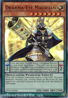 Picture of PEVO-EN018 Dharma-Eye Magician Super Rare 1st Edition Mint YuGiOh Card