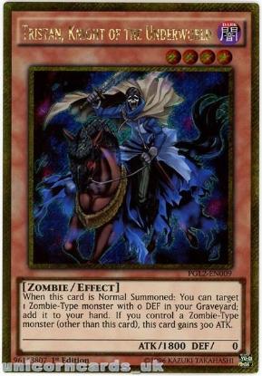 Picture of PGL2-EN009 Tristan, Knight of the Underworld Gold Secret Rare 1st Ed YuGiOh Card