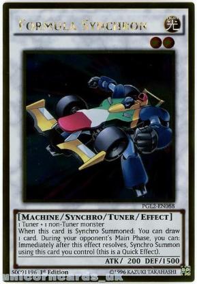 Picture of PGL2-EN088 Formula Synchron Gold Rare 1st Edition Mint YuGiOh Card
