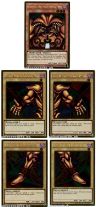 Picture of Exodia the Forbidden One Complete 5-Cards Set :: Genuine Konami :: All Gold Rare