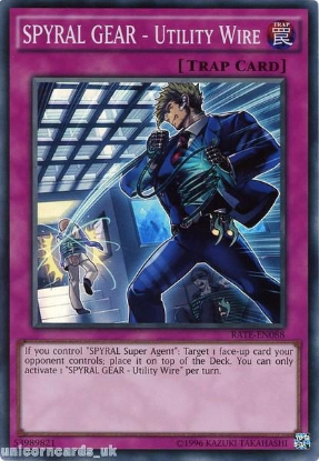 Picture of RATE-EN088 SPYRAL GEAR - Utility Wire Super Rare UNL Edition Mint YuGiOh Card