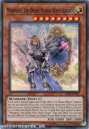 Picture of RIRA-EN087 Morpheus, the Dream Mirror White Knight Super Rare 1st Edition Mint YuGiOh Card