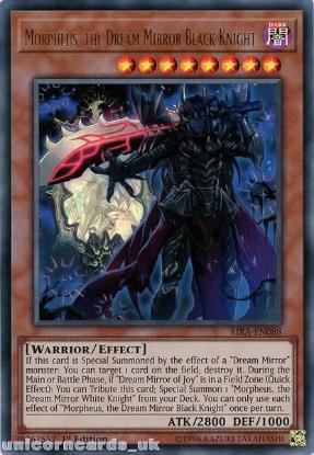 Picture of RIRA-EN088 Morpheus, the Dream Mirror Black Knight Ultra Rare 1st Edition Mint YuGiOh Card
