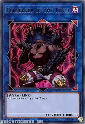 Picture of RIRA-EN045 Berserker of the Tenyi Rare 1st Edition Mint YuGiOh Card