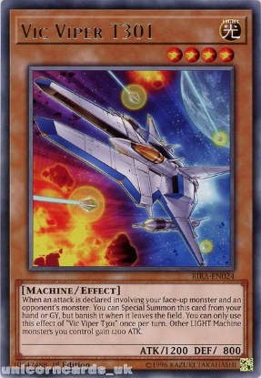 Picture of RIRA-EN024 Vic Viper T301 Rare 1st Edition Mint YuGiOh Card