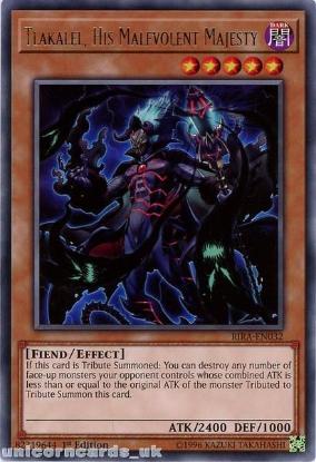 Picture of RIRA-EN032 Tlakalel, His Malevolent Majesty Rare 1st Edition Mint YuGiOh Card