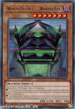 """Picture of SAST-EN016 World Legacy - """"World Ark"""" Rare 1st Edition Mint YuGiOh Card"""