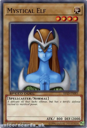 Picture of SBAD-EN003 Mystical Elf Common 1st Edition Mint YuGiOh Card