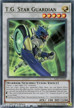 Picture of SAST-EN039 T.G. Star Guardian Ultra Rare 1st Edition Mint YuGiOh Card