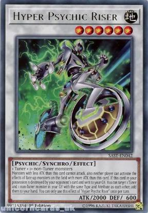 Picture of SAST-EN042 Hyper Psychic Riser Rare 1st Edition Mint YuGiOh Card