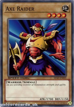 Picture of SBAD-EN009 Axe Raider Common 1st Edition Mint YuGiOh Card