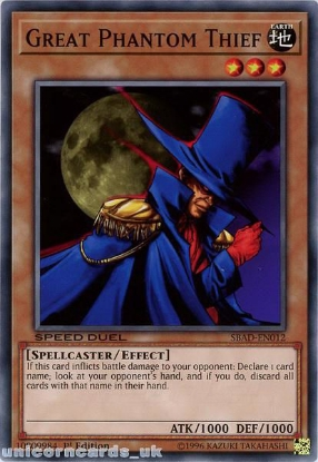 Picture of SBAD-EN012 Great Phantom Thief Common 1st Edition Mint YuGiOh Card