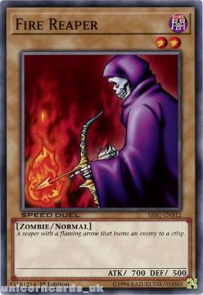 Picture of SBSC-EN012 Fire Reaper 1st Edition Mint YuGiOh Card