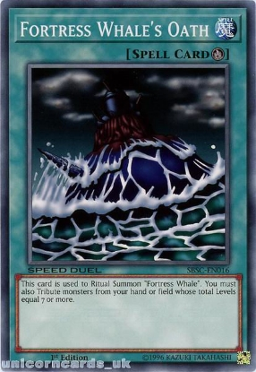 Picture of SBSC-EN016 Fortress Whale's Oath 1st Edition Mint YuGiOh Card