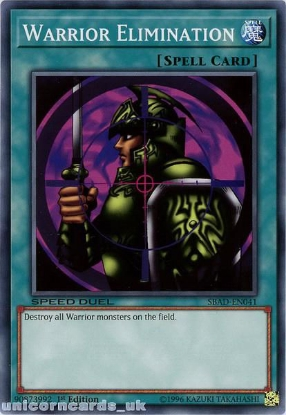Picture of SBAD-EN041 Warrior Elimination Common 1st Edition Mint YuGiOh Card