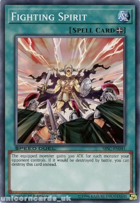 Picture of SBSC-EN041 Fighting Spirit 1st Edition Mint YuGiOh Card