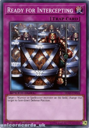 Picture of SBAD-EN044 Ready for Intercepting Common 1st Edition Mint YuGiOh Card