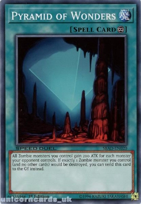 Picture of SBAD-EN020 Pyramid of Wonders Common 1st Edition Mint YuGiOh Card