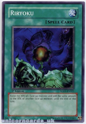 Picture of SD09-EN021 Riryoku 1st Edition Mint YuGiOh Card