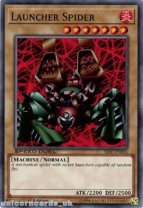 Picture of SBSC-EN024 Launcher Spider 1st Edition Mint YuGiOh Card