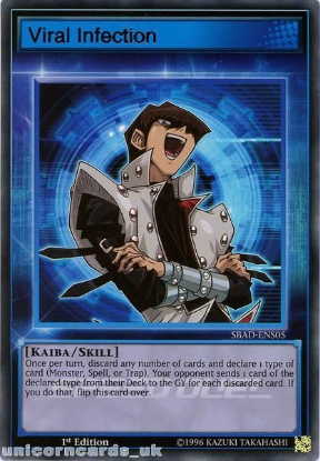 Picture of SBAD-ENS05 Viral Infection Ultra Rare 1st Edition Mint YuGiOh Card
