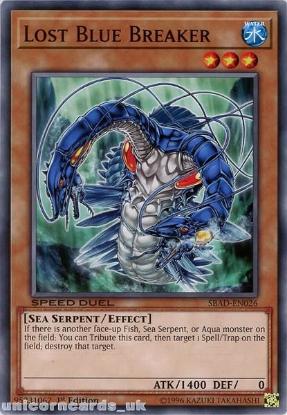 Picture of SBAD-EN026 Lost Blue Breaker Common 1st Edition Mint YuGiOh Card