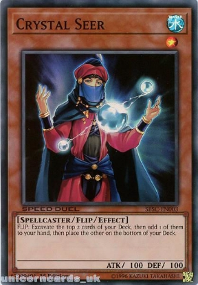 Picture of SBSC-EN003 Crystal Seer Super Rare 1st Edition Mint YuGiOh Card