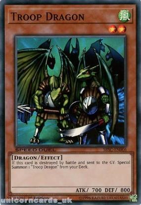 Picture of SBSC-EN006 Troop Dragon Super Rare 1st Edition Mint YuGiOh Card