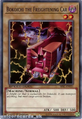 Picture of SBSC-EN031 Bokoichi the Freightening Car 1st Edition Mint YuGiOh Card