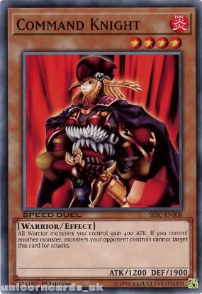 Picture of SBSC-EN008 Command Knight 1st Edition Mint YuGiOh Card