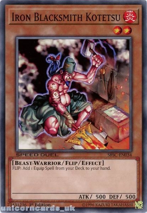 Picture of SBSC-EN034 Iron Blacksmith Kotetsu 1st Edition Mint YuGiOh Card