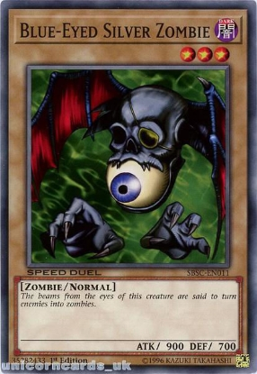 Picture of SBSC-EN011 Blue-Eyed Silver Zombie 1st Edition Mint YuGiOh Card
