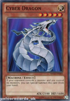 Picture of SDCR-EN003 Cyber Dragon UNL Edition Mint YuGiOh Card