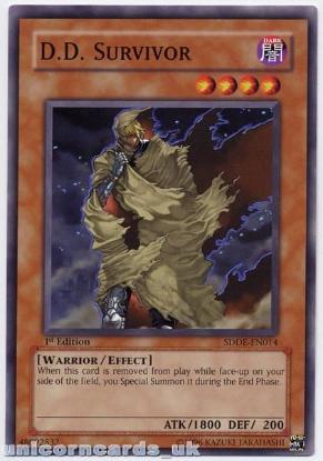 Picture of SDDE-EN014 D.D. Survivor 1st Edition Mint YuGiOh Card