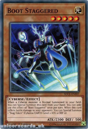 Picture of SDCL-EN007 Boot Staggered 1st Edition Mint YuGiOh Card